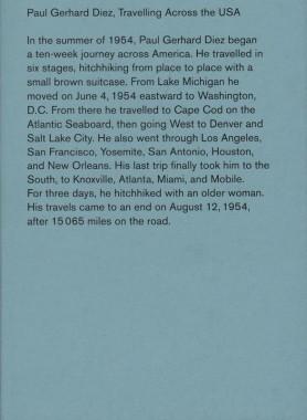 Paul Gerhard Diez, Travelling Across the USA