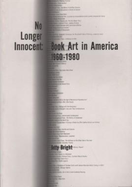 Betty Bright, No Longer Innocent: Book Art in America 1960-1980
