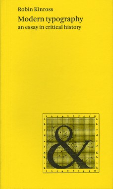 Robin Kinross, Modern typography: an essay in critical history