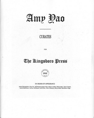 Amy Yao curates for The Kingsboro Press